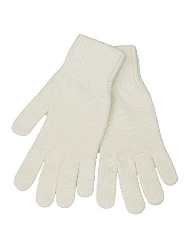 LOVARZI Weiß Frauenhandschuhe aus Wolle Winterhandschuhe für Damen (Minnie Und Mickey Mouse Paar Kostüm)