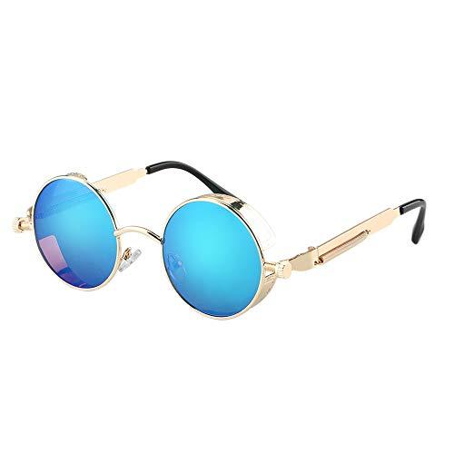 NSZPW Motorradbrille Runde Sonnenbrille Moto Goggles Protective Gears Motorradzubehör Brille Windresistente Unisex-Reitbrille