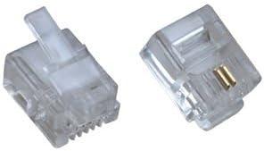 Tiny Deal Connector Modular Phone Cable Plug, 100pcs/lot RJ11 ( CB22809)