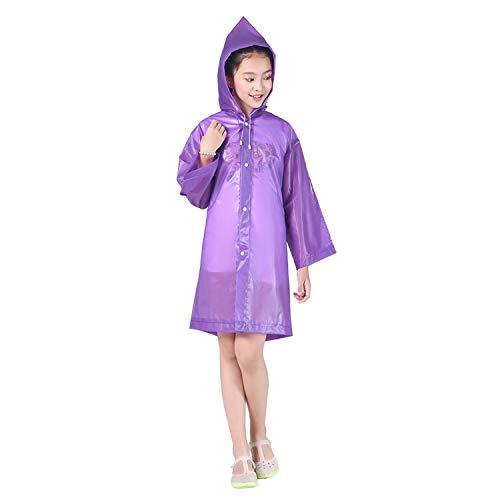 wall-8-CC Outdoor Activities Supplies Thick Jacket Cover Waterproof Kids Long Hooded Rainsuit Children
