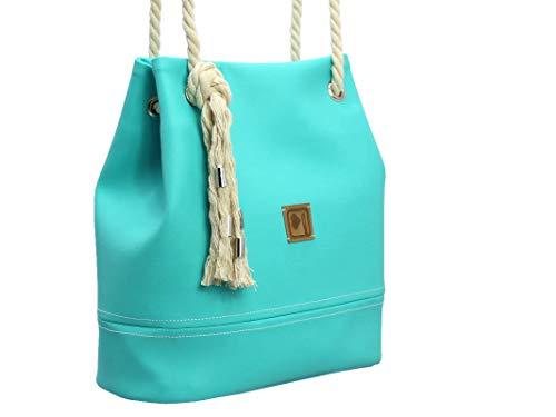 Handtasche Türkis - Blau - 3