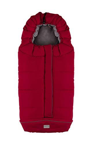 Nuvita 9545 junior city - sacco termico universale per passeggino. ideale per neonati, bimbi e bambini (red grey)