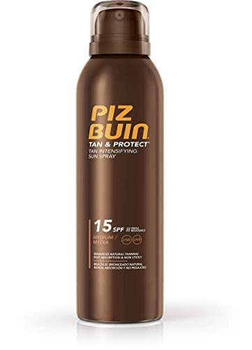 PIZ BUIN Tan & Protect Tan Intensifying Sun Spray, Bräunungsintensivierendes Sonnenspray, LSF 15, 1 x 150 ml