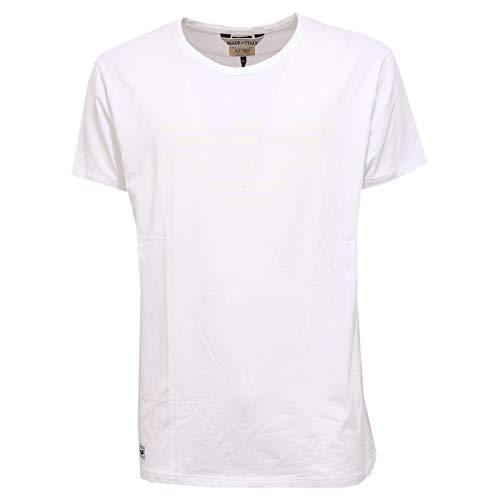 Armani jeans 9585k maglia uomo slim fit cotton white t-shirt man [3xl]