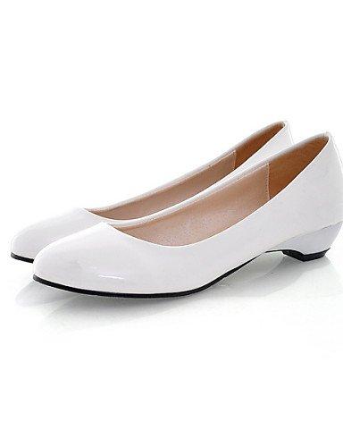 ZQ Scarpe Donna - Ballerine - Ufficio e lavoro / Formale / Casual - Ballerina - Basso - Vernice - Nero / Blu / Giallo / Rosa / Rosso / Bianco , pink-us10.5 / eu42 / uk8.5 / cn43 , pink-us10.5 / eu42 / blue-us6 / eu36 / uk4 / cn36