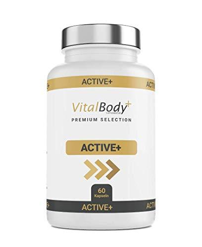 ACTIVE+ 60 effektive Diät-Kapseln zum schnell Abnehmen für Männer& Frauen - natürlicher Fatburner Fettverbrenner - Guarana, Grüntee Extrakt, Bitterorangenextrakt & Koffein- Deutsche Apotheken Qualität