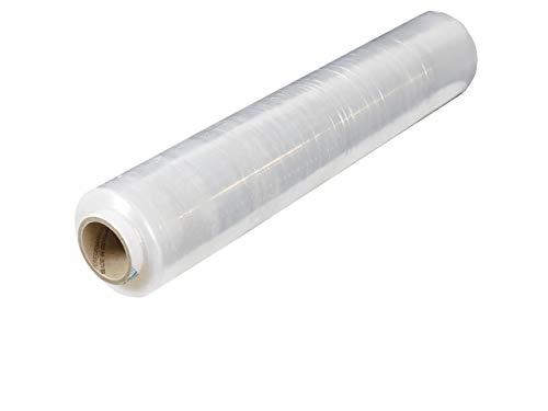 1 Rolle Stretchfolie 2,90kg 500mm x 270m | Verpackungsfolie in 20 my transparent | wählbare Qualität 17, 20 oder 23my | 1-12 Wickelfolien