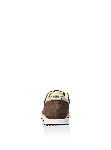 Sneaker Saucony DXN Trainer in suede e nylon marrone Braun