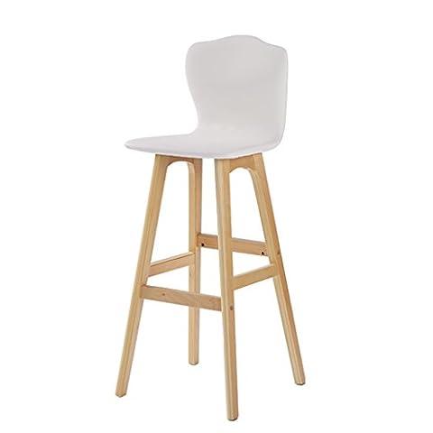BZEI-Chair Retro Bar Fauteuil Chaise haute en bois massif en