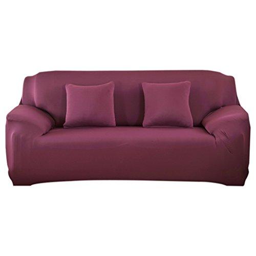 Souarts Sofabezug elastische Stretch SofaBezug mit 4 verschienden Größe Bezug Couchsessel für (3 Sitzer, 190-230cm, Bohnenpaste Rot farbe)