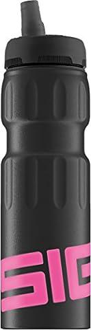 Sigg Damen Trinkflasche NAT Sports, Schwarz/Pink, One size, 8505.2