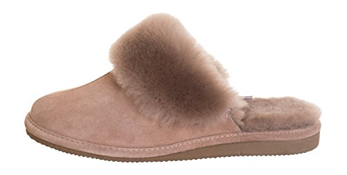 Femmes Luxe Peau De Mouton Pantoufles Chaussons Avec Doublure Chaud Laine P01