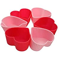 Rinkle Trendz Silicone Heart Candle Mould - Set of 6 Pieces - Random Color