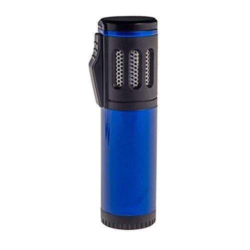 Shisha Gas Feuerzeug Triple Jet Flame mit Schutzkappe (Blau)