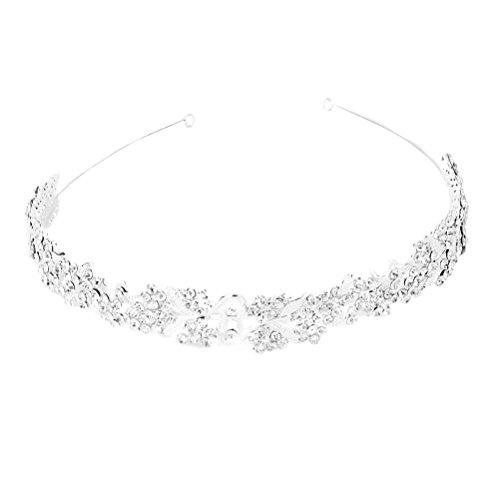Pixnor Priness Crystal Flower Leaf Hochzeit Haar Band Zubehör