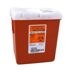 Kendall Sharp Safety Autodrop Phlebotomy, 2.2 Qt, Red (681522SA) Category: Sharps Containers by Kendall