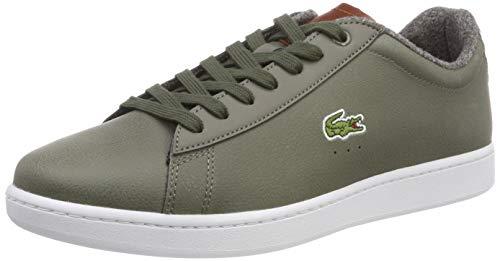 Lacoste Sport Herren Carnaby Evo 318 2 SPM Sneaker, Grün (Khk/BRW Kb1), 44 EU
