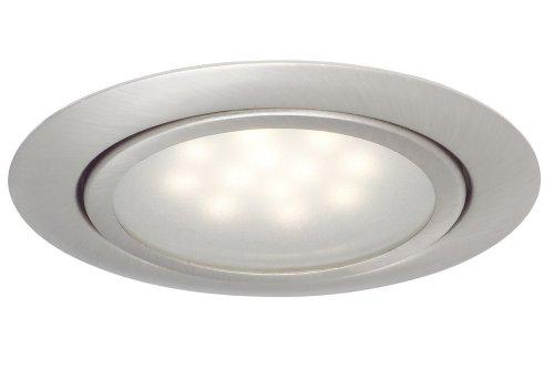Paulmann 99812 Möbel EBL Set LED 3x1W 12VA 230/12V 65mm Eisen gebürstet/Metall