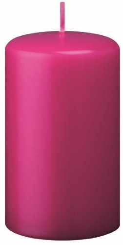 Stumpenkerzen Pink (Fuchsia) 8 x 4 cm, 24 Stück