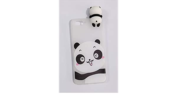 aa1fedea73 Radha Cute Soft Silicone Chubby Smile Panda Back Cover: Amazon.in:  Electronics