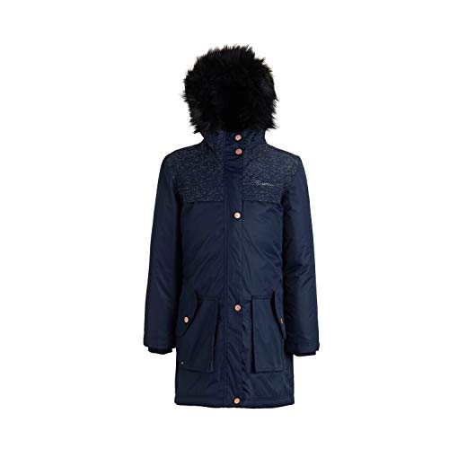 Regatta Kinder Halimah Waterproof and Breathable Insulated Reflective Parka Jacke, Navy, Size 9-10