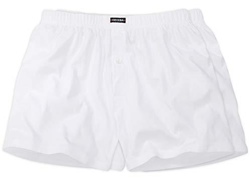 Ceceba Herren Boxer Shorts Doppelpack Boxershorts mit Eingriff XXL Größen (12 / 5XL, Schwarz) -