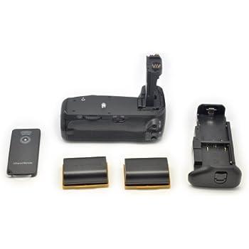 QUMOX 2x LP-E6 Batterie + Poignées d'alimentation Grip BG-E14 Multi chargeur pour Canon EOS 70D DSLR