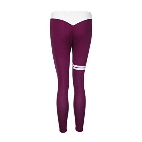Pantaloni da donna,BeautyTop Donna Yoga Sportivi leggings fitness Sport Running yoga Athletic Pantaloni Pants Viola
