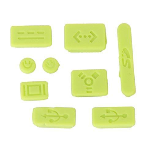 Silicone Anti-polvere Copertura Della Spina Tappo Per MacBook Air Pro - Verde