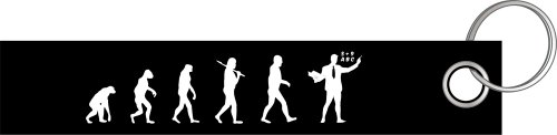 Lehrer Lehrerin Schule Ausbildung Evolution Schlüsselanhänger Schlüsselband Keyholder Lanyard
