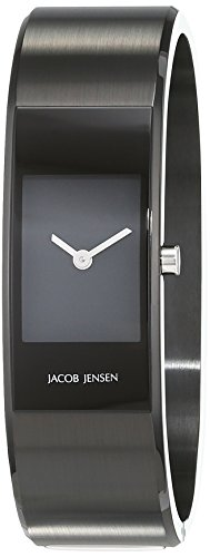 Jacob Jensen Strata Women's Quartz Watch with Black Dial Analogue Display Quartz Stainless Steel Coated 32453