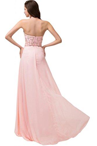 Sunvary Sexy anteriori laterali in Chiffon Prom vestiti da sera con Sash-Gowns Bianco