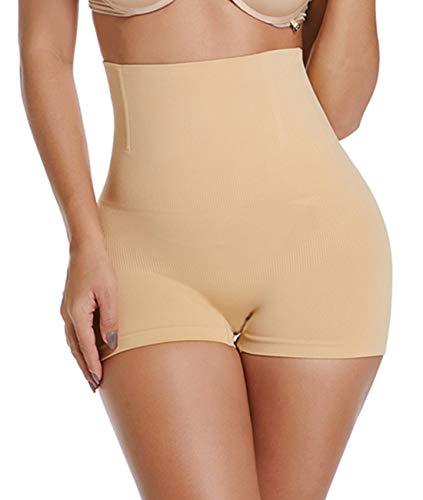SURE YOU LIKE Damen Taille Shapewear Figurenformend Miederpants Miederhose Body Shape Bauch Kontrolle Unterwäsche, Beige, Tag M/L size EU(38-42)
