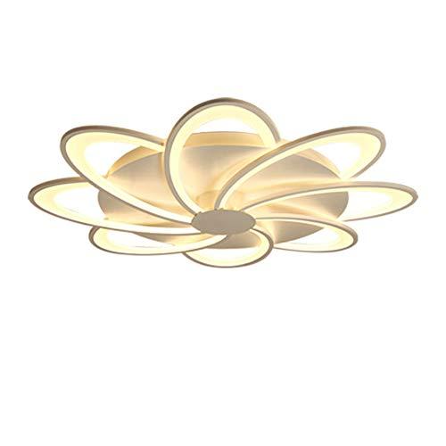 YAYONG Luz de Techo Moderna Minimalista LED Flor Forma acrílico Creativo Dormitorio Sala de Estar Lámpara Chandelier casera,White,5heads