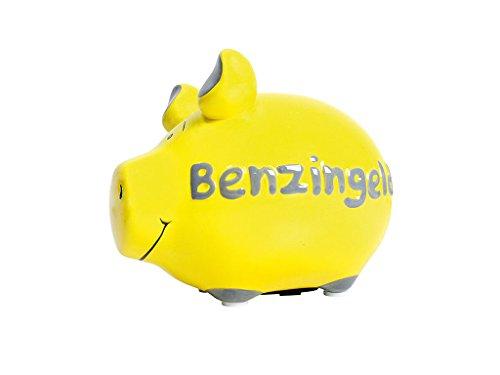 Sparschwein Benzingeld 12,5 x 9,7 cm gelb