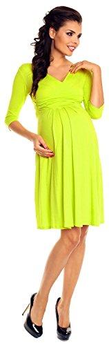 Zeta Ville Damen Umstandsmoden-Shirtkleid Umstandskleid Sommerkleid 282c Zitrone
