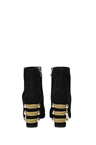 CT0259AE65089718 Dolce&Gabbana Stiefeletten Damen Wildleder Schwarz Schwarz