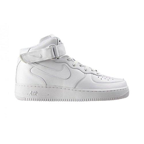 Nike Air Force 1Mid '07Herren Sportschuhe-Basketball, Weiß - weiß - Größe: 44 - Herren Nike Schuhe Hightop