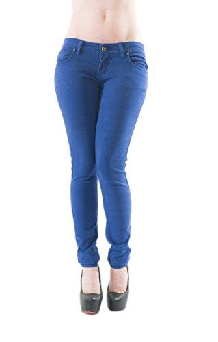 Damen Skinny Hüfthose Jeans Röhrenhose 33453 Blau