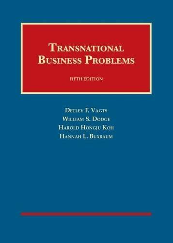 Transnational Business Problems (University Casebook Series) by Detlev Vagts (2014-06-20)