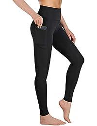 Gimdumasa High Waist Leggings Damen Sport Fitness Yogahose Lange Blickdicht Leggings Yoga Hose Sporthose Leggins Fitnesshose mit Taschen GI188