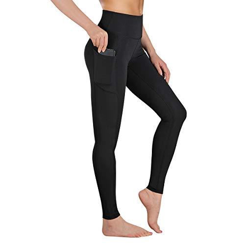 Gimdumasa Leggings Damen Fitness, Yogahose, Lange Blickdicht Yoga Hose Sporthose Fitnesshose mit Taschen GI188 (Schwarz, L)