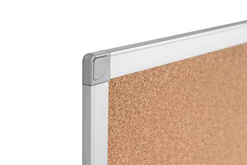 BoardsPlus Tablero De Corcho Y Pizarra Con Marco De Aluminio, 120x90 cm