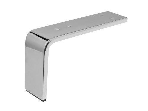 SO-TECH® Möbelfuß Chrom 130 x 235 x 60 mm Schrankfuß Polsterfuß