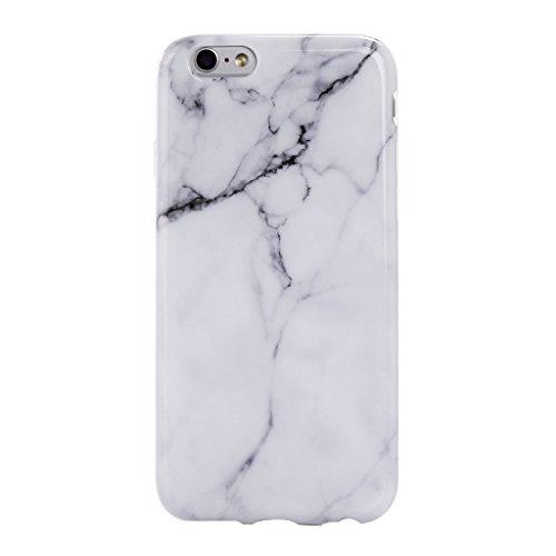iPhone 5 / 5S / SE Cover ZXLZKQ Trasparente Di alta qualità Rosa Blue Naturale Marmo Stripe Silicone Morbido TPU Bumper Case Custodia per Apple iPhone 5 / 5S / SE (Non disponibile per iPhone 5C) Blanc Marbre