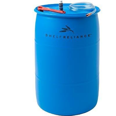 Preisvergleich Produktbild Shelf Reliance Deluxe BPA Free 55-gallon Barrel Water Storage System Includes Water Filter Pump By Aquamira, Food Grade Water Barrel by Nutristore