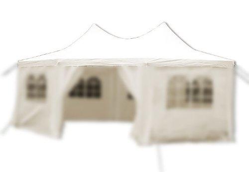 Nexos Pavillondach/Ersatzdach/Wechseldach/Dachbezug für Partyzelt Festzelt Zelt 6x4,4x3,3m - Dachplane 260g/m² PE wasserdicht – Farbe: creme