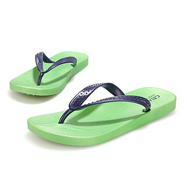 Herren Schuhe Casual Gummi Hausschuhe Blau/Grün/Rot Grün