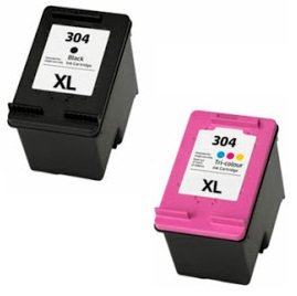 Printing Pleasure 2 XL Cartuchos de Tinta compatibles para HP Deskjet 2620 2630 2632 2633 2634 3700 3720 3730 3732 3733 3735 Envy 5020 5030 5032 | Reemplazo para HP 304XL (N9K08AE & N9K07AE)