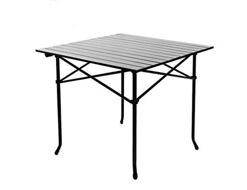 HNHX Tragbare Aluminium picknicktisch grilltisch Freizeit Camping Reise Finish Tisch komfortabel und langlebig einfach zu Falten Lange 70 cm breite 70 cm hoch 70 cm Serviertisch